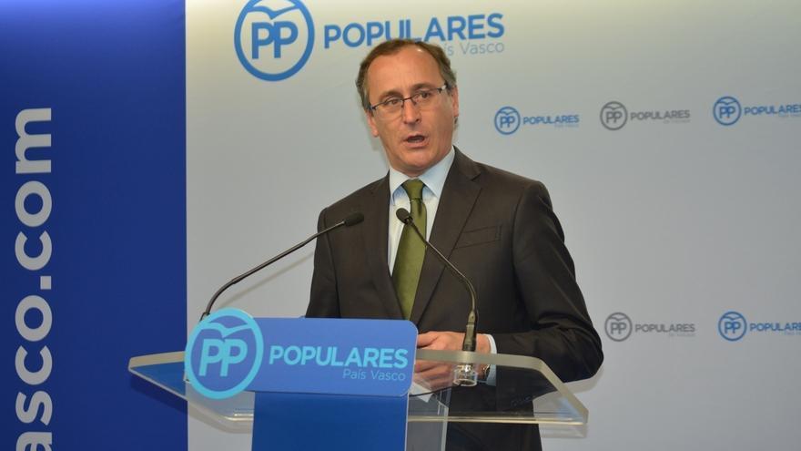 """Alfonso Alonso (PP) considera que """"no tendría sentido"""" que el PNV no prolongue su apoyo a los PGE de 2018"""
