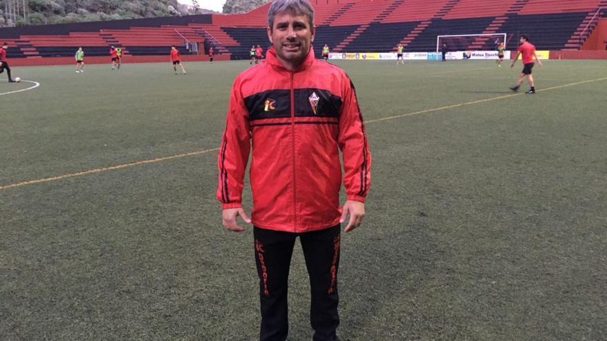 José Antonio Robaina este lunes en el Silvestre Carrillo.