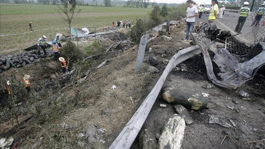 Diez muertos y once heridos tras colisionar un tren y un autobús al noreste de China