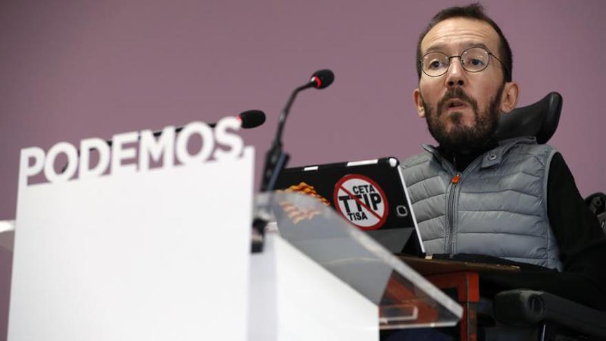 Echenique defiende un Pablo Iglesias menos poderoso y a Errejón de portavoz