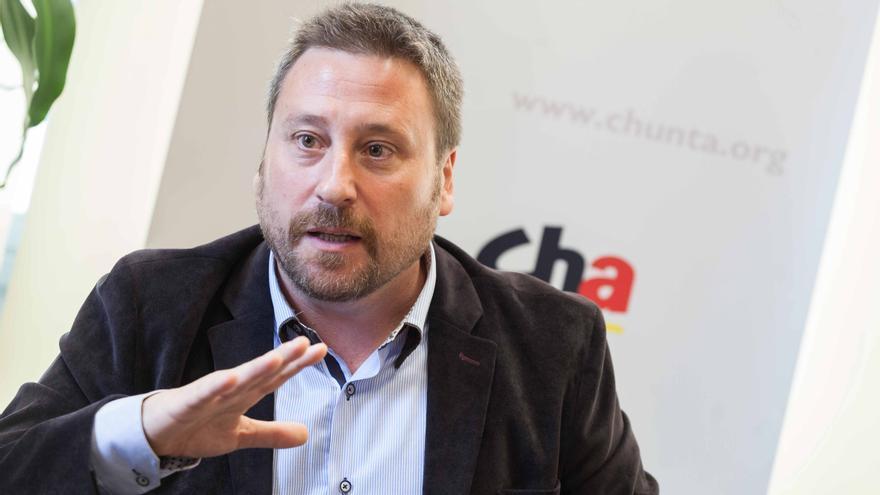 José Luis Soro, candidato de CHA a la presidencia del Gobierno de Aragón. Foto: Juan Manzanara