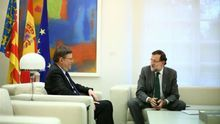 El jefe del Consell, Ximo Puig, en una reunión con el presidente Mariano Rajoy