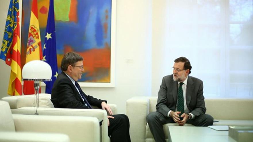 El jefe del Consell, Ximo Puig, reunido con el presidente Mariano Rajoy