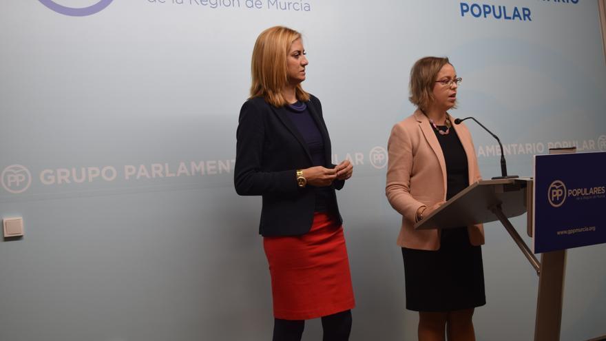 Las diputadas del PP Patricia Fernández e Inmaculada González han registrado la moción para implantar el voto telemático