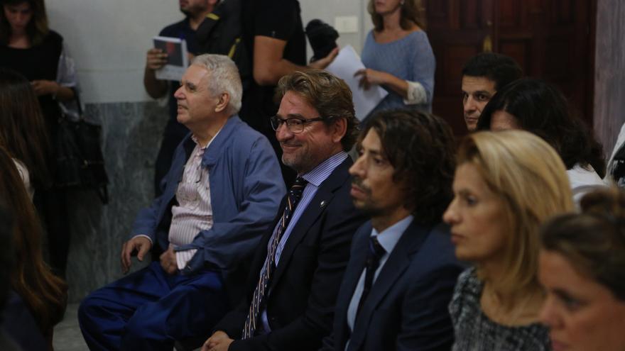 El juez Salvador Alba durante la apertura del año judicial en Canarias.