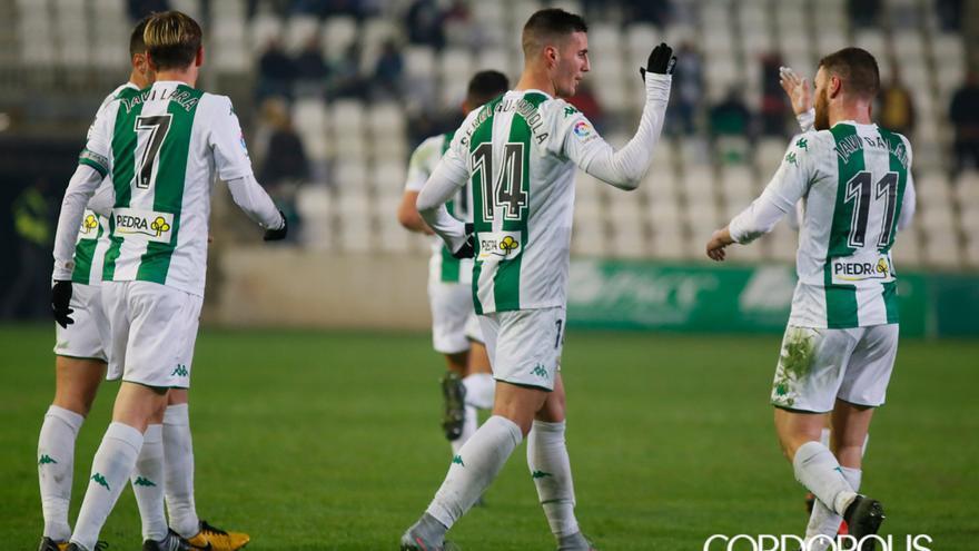 Sergi Guardiola celebra un gol ante el Reus la temporada 2017-18 | MADERO CUBERO