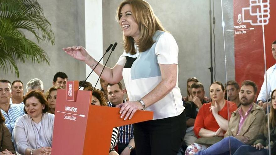 """El PP critica que Díaz sigue su """"show"""" por España y deja """"de 8 a 3"""" a Andalucía"""