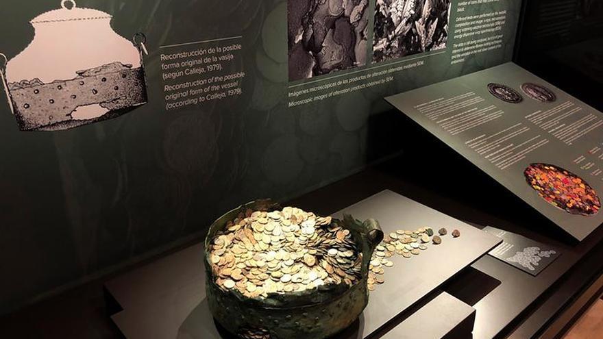 El tesoro romano hallado en un caldero volverá a Palencia 70 años después