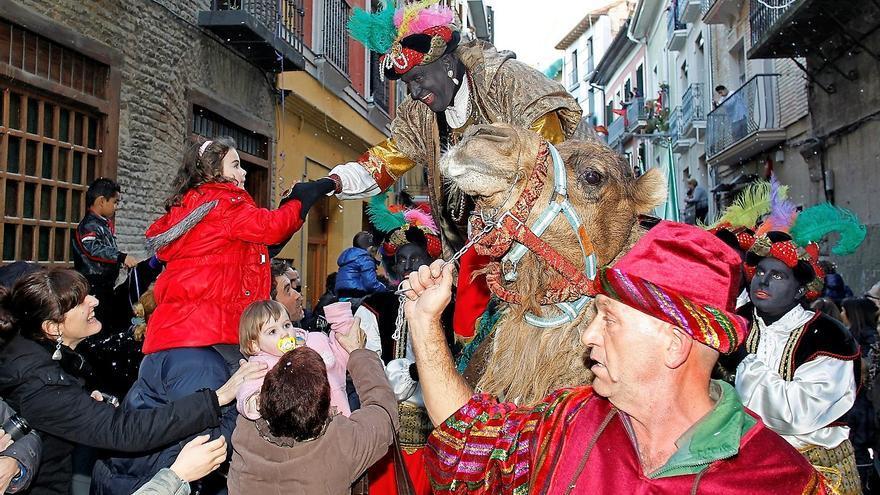 Cabalgata de los Reyes Magos, en Pamplona.