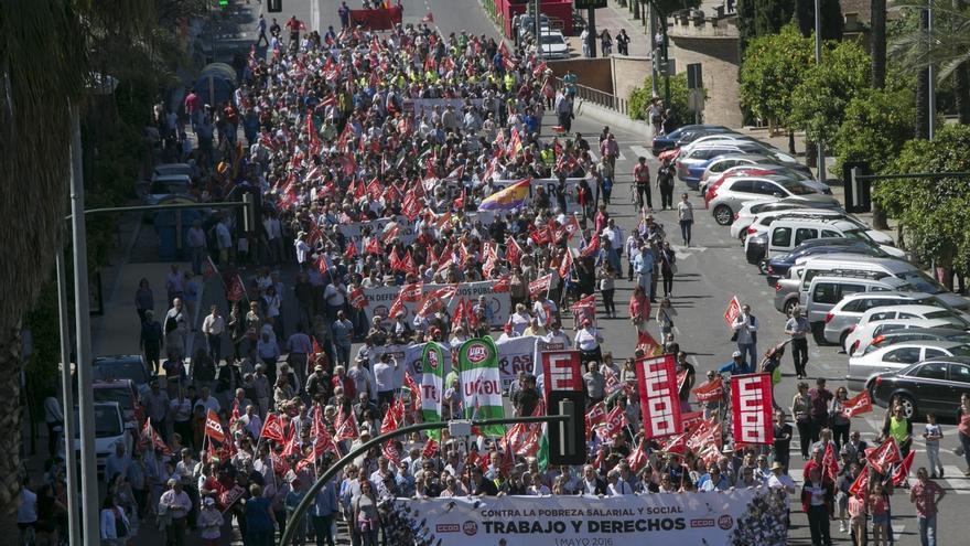 CCOO-A y UGT-A se movilizan este lunes en las ocho provincias y Málaga acoge la manifestación central del 1 de mayo