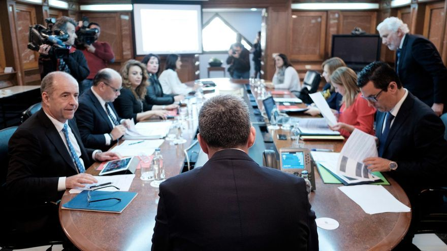 Reunión del Consejo de Gobierno de Canarias celebrado este lunes.