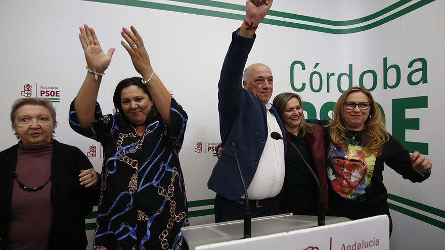 Líderes del PSOE en la sede cordobesa | ÁLEX GALLEGOS