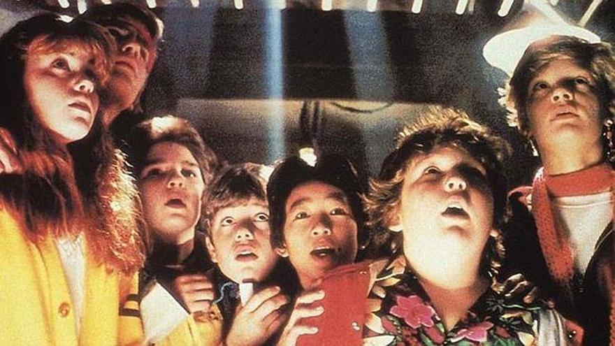Los goonies. Imagen promocional de la película de Richard Donner (1985)