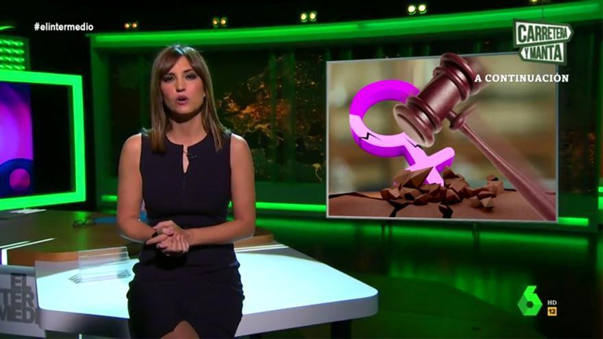 Sandra Sabatés, en El Intermedio tras la sentencia de La Manada