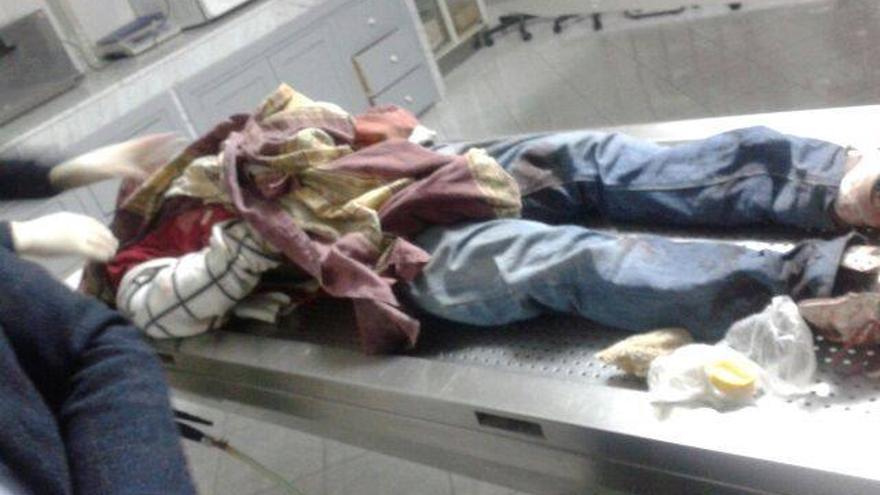 El cuerpo sin vida de Cedrick Bene./Colectivo Caminando Fronteras