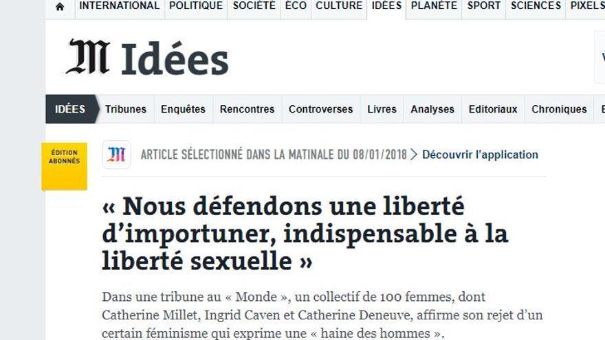 Captura de la web de Le Monde