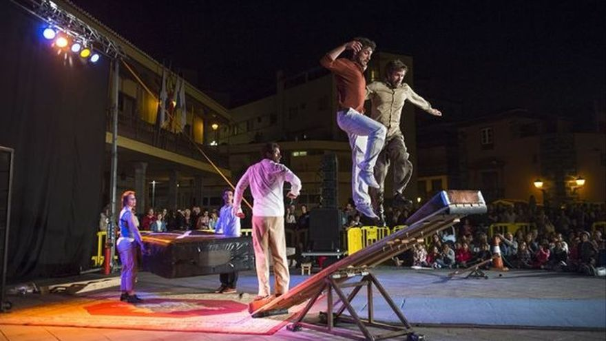 Espectáculo del festival Mueca el año pasado, en Puerto de la Cruz