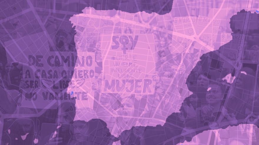 MAPA | Consulta todas las manifestaciones y convocatorias de este 8M en España