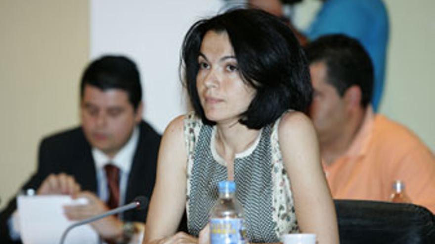 Isabel Santiago, concejala de NC en Mogán. (QUIQUE CURBELO)