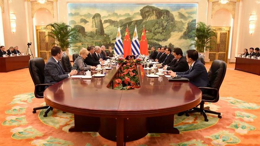 El presidente de Uruguay, Tabaré Vázquez, concluye hoy su visita de Estado a China