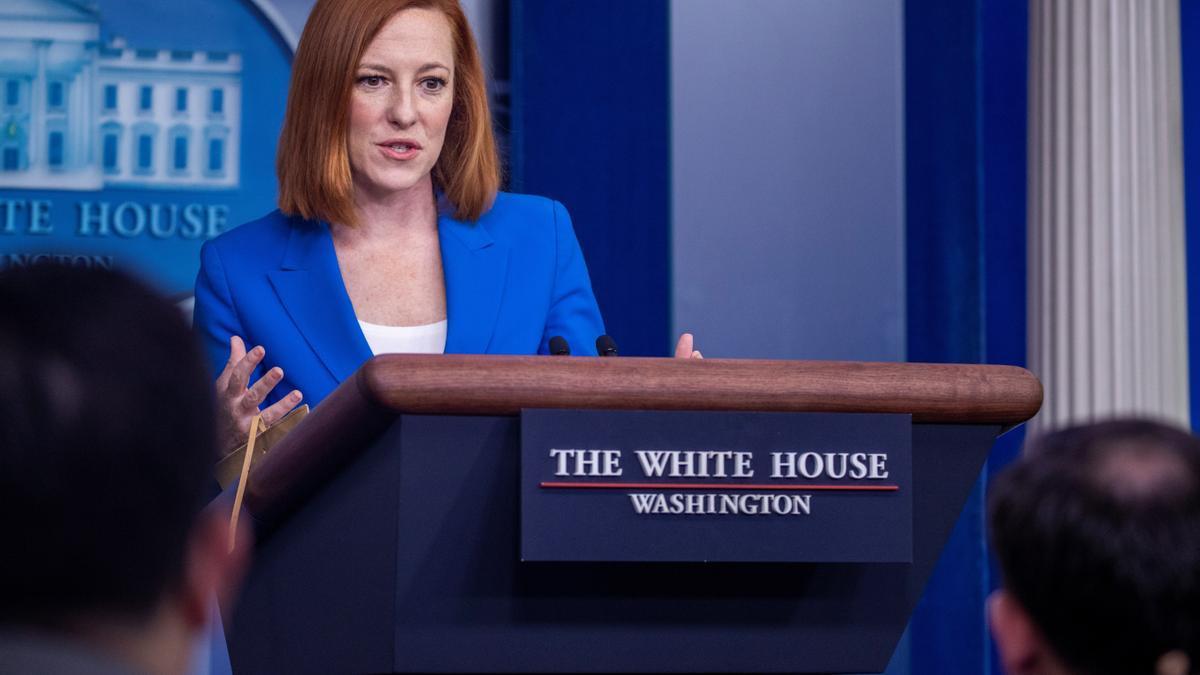 La secretaria de prensa de la Casa Blanca, Jen Psaki.