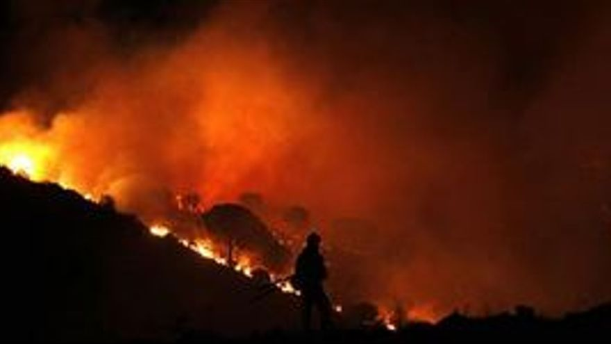 Incendio en la provincia de Málaga. (EUROPA PRESS)