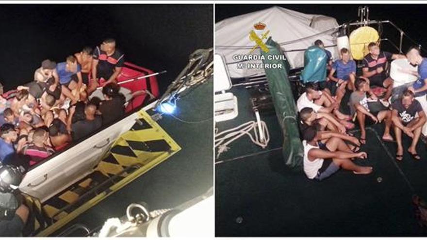 Interceptan una patera frente a la costa de Aguilas (Murcia) con 13 inmigrantes