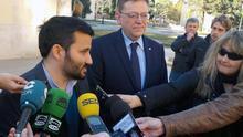 El conseller de Educación, Vicent Marzà, junto al president Ximo Puig