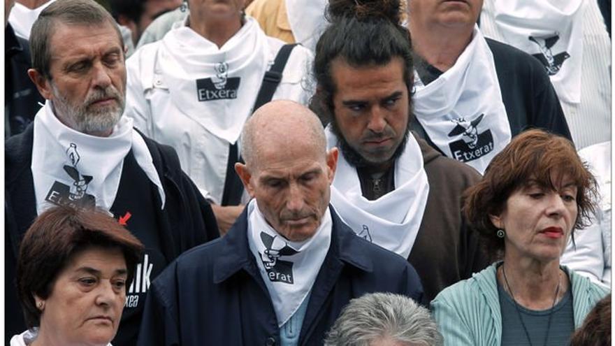 Manifestación a favor del acercamiento de los presos de ETA