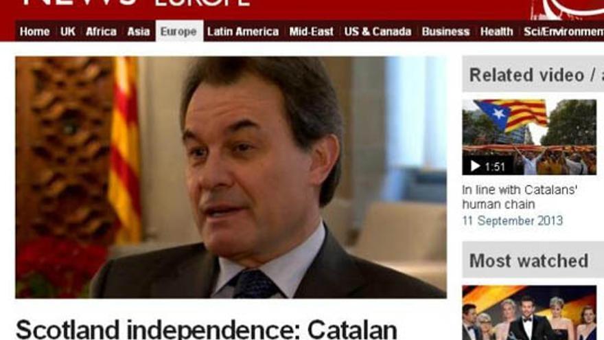 El exquisito inglés de Artur Mas en la BBC
