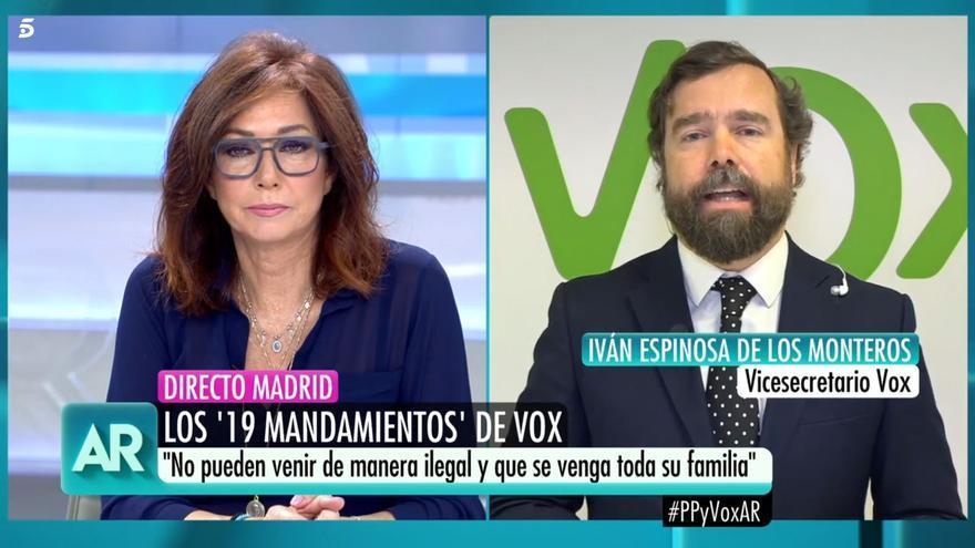 Iván Espinosa, en el programa de Ana Rosa Quintana