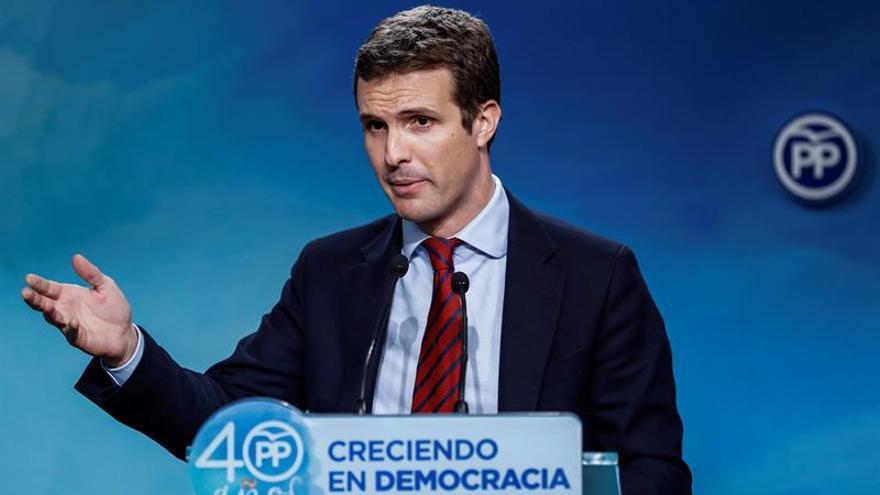 Casado pide a la mayoría independentista que piense en otro candidato