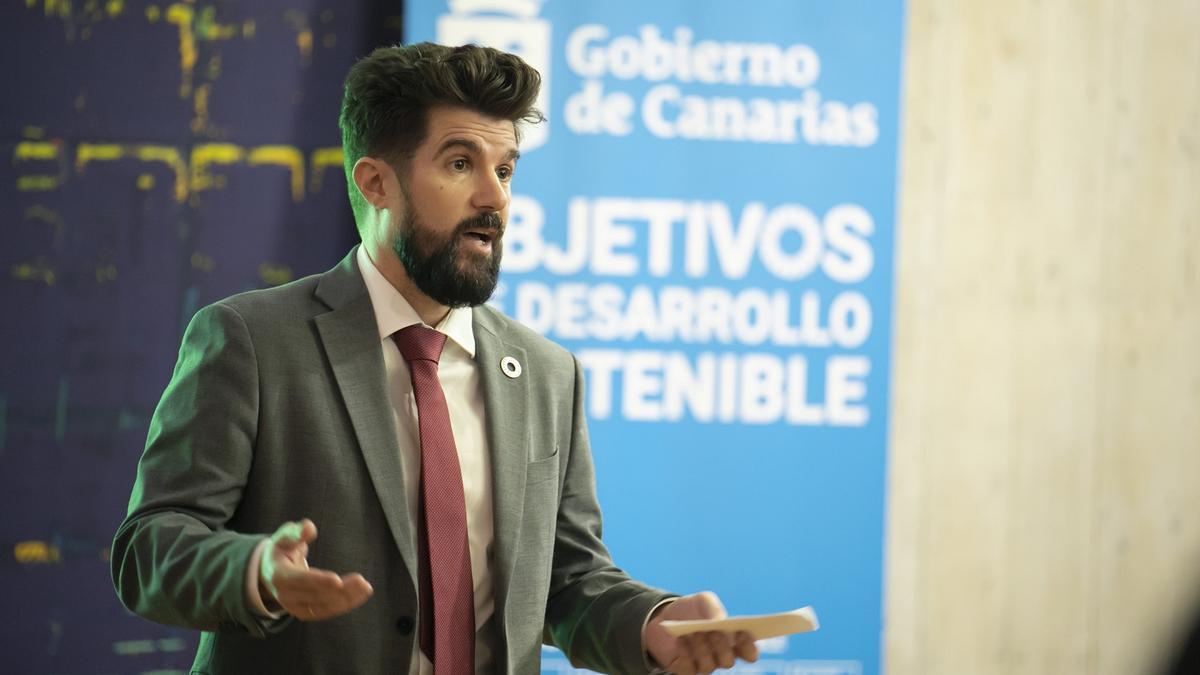 David Padrón, responsable de la Dirección General de Investigación y Coordinación del Desarrollo Sostenible en el Gobierno de Canarias