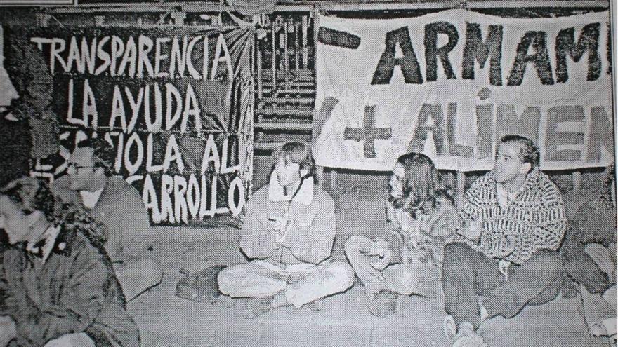 Acampadas del 0,7 en 1995 / Pobreza Cero