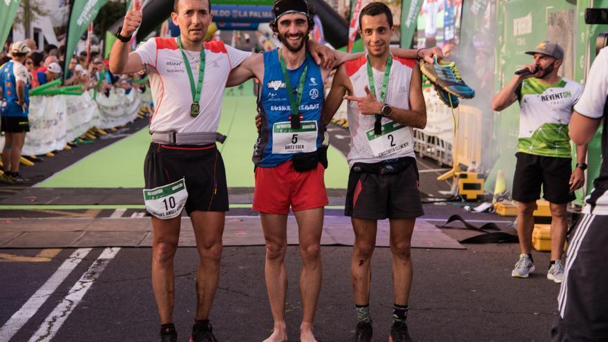 El corredor Aritz Egea venció en la Reventón Trail 2017. Crédito: ARTURO JIMÉNEZ