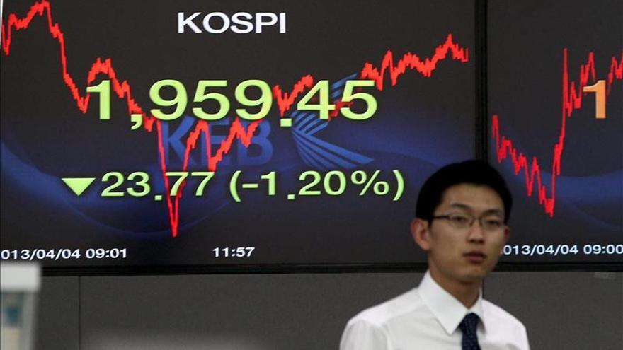 El Kospi sube el 0,16 por ciento hasta 1.971,96 puntos