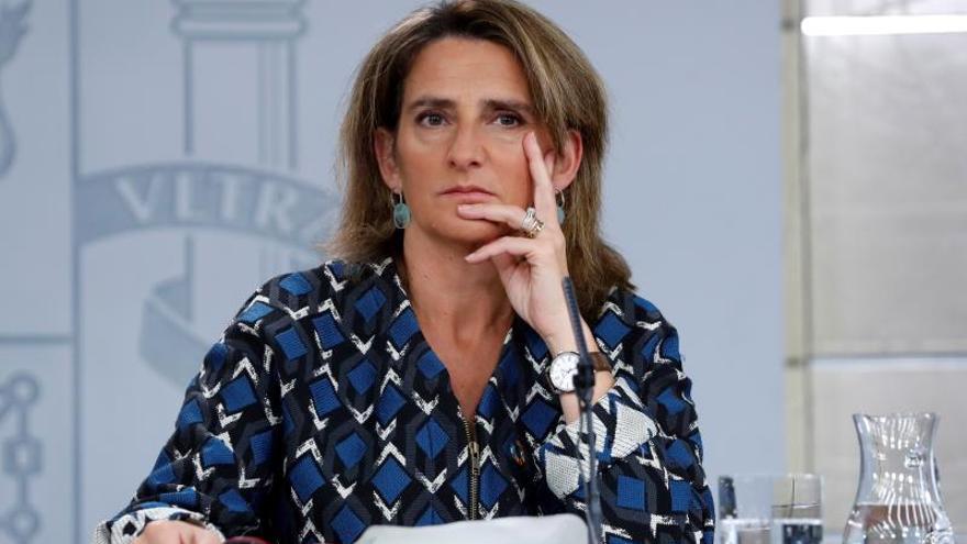 La ministra de Transición Ecológica en funciones, Teresa Ribera, durante la rueda de prensa posterior a la reunión del Consejo de Ministros.