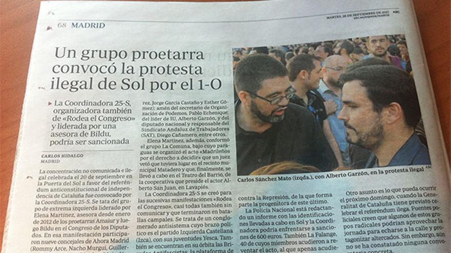 Información de 'Abc' que vincula a Garzón e IU con ETA.