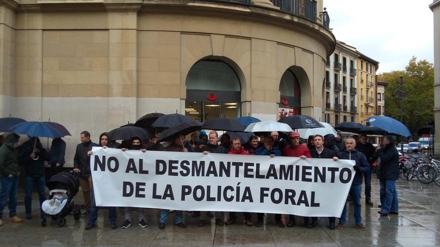 """APF y SPF advierten de la """"dramática situación"""" en la Policía Foral y reclaman la modificación de la ley"""