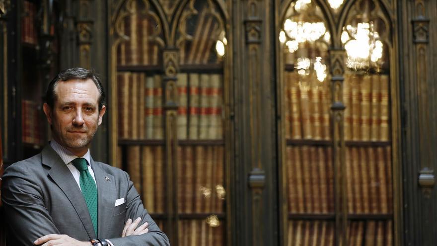 José Ramón Bauzá, durante la entrevista en el Senado.