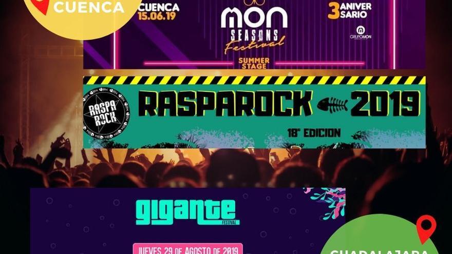 Cartel festivales 2019 Cuenca y Guadalajara