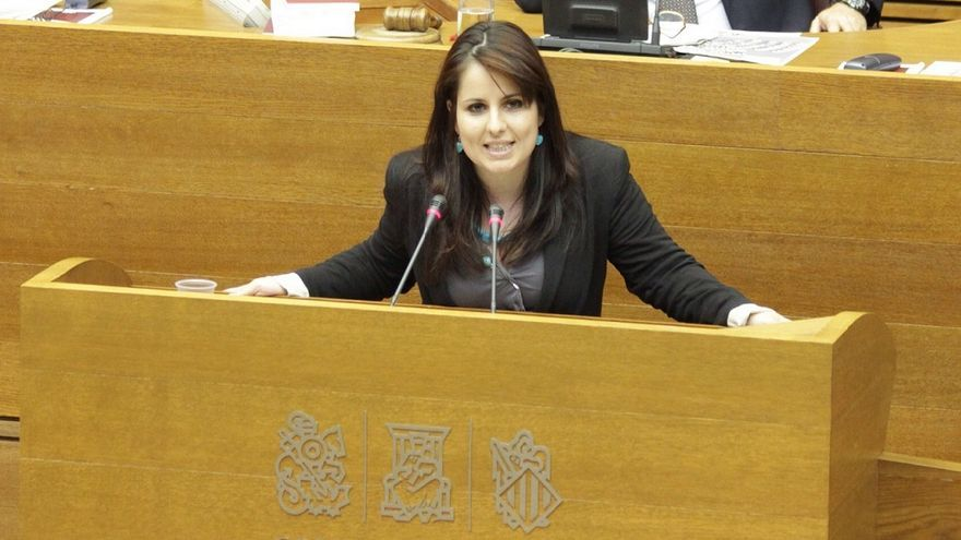 Esther López Barceló, durante una intervención en las Corts