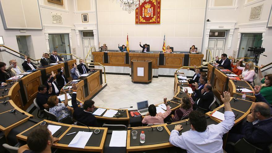 Un pleno de la Diputación de Alicante