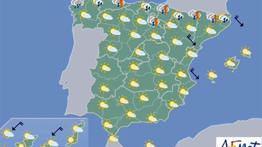 La Aemet prevé hoy lluvias en todo el extremo norte de la Península