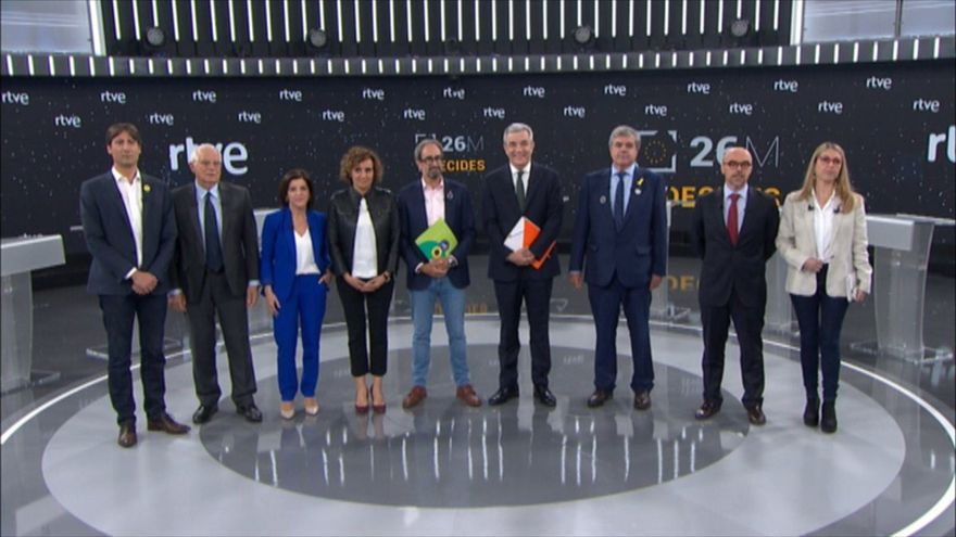 Jordi Solé (ERC), Josep Borrell (PSOE), Izaskun Bilbao (PNV), Dolors Montserrat (PP), Jordi Sebastiá (Compromís), Luis Garicano (Ciudadanos), Gorka Knör (JxC), Jorge Buxadé (Vox), María Eugenia R. Palop (Unidas Podemos).