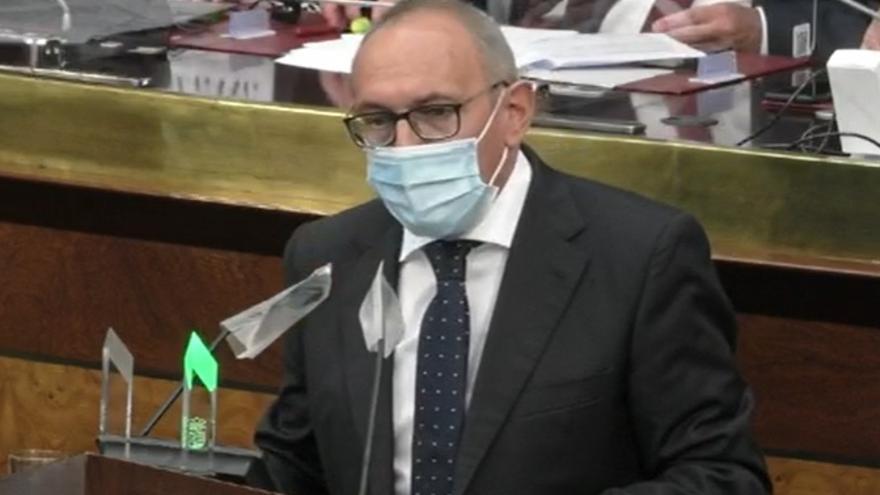Ramiro González, en el debate de política general de las JJGG de Álava
