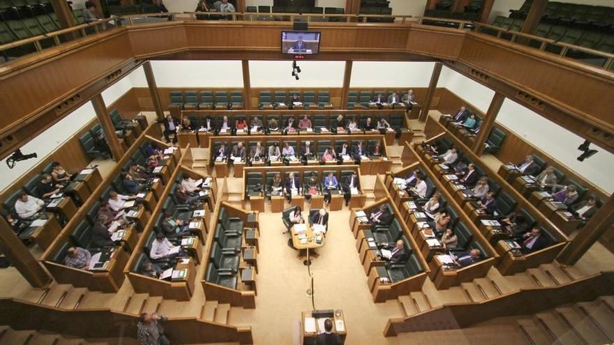 Vista general del pleno del Parlamento Vasco