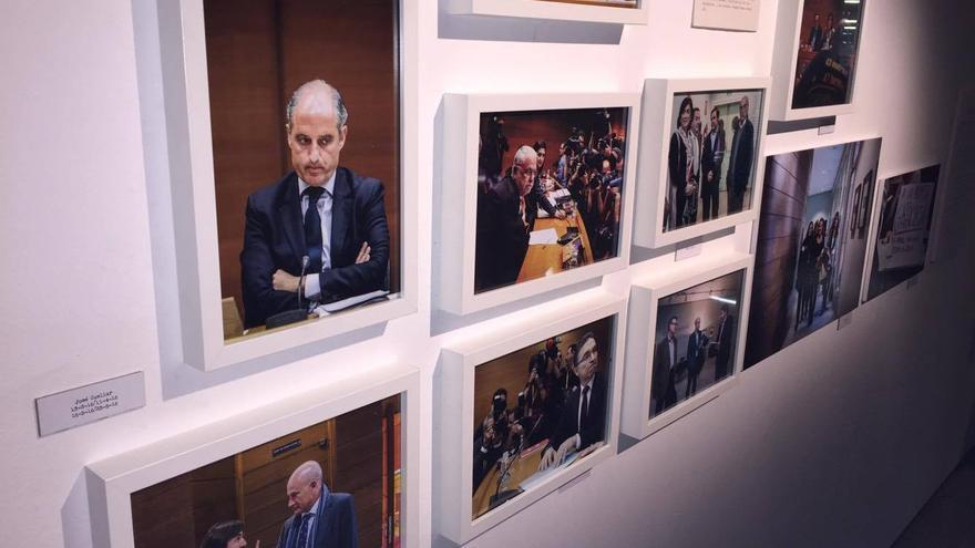 El expresidente Francisco Camps con cara de circunstancias antes de declarar en la Comisión de Investigación