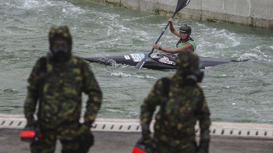 El ejército brasileño hace simulacros para comprobar los sistemas de seguridad para los Juegos Olímpicos.