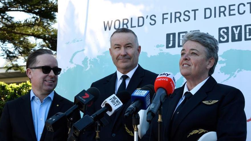 Qantas finaliza el ensayo del vuelo comercial más largo, de Nueva York a Sídney